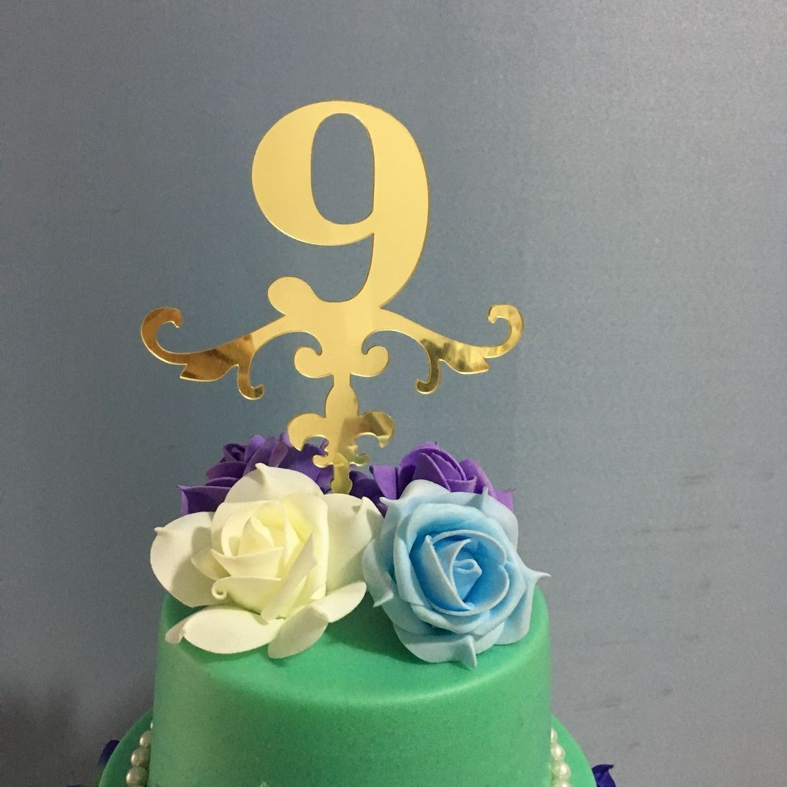 ShinyBeauty Birthday Cake Topper NumbersBirthday DecorationsGold Glitter Party