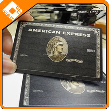 CR80 pvc manufacturering american express black card printing