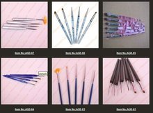 wholesale #2/#4/#6/#8/#10 differen size Nail Art Design Set Dotting Painting Drawing Polish Brush Pen Tools AGB