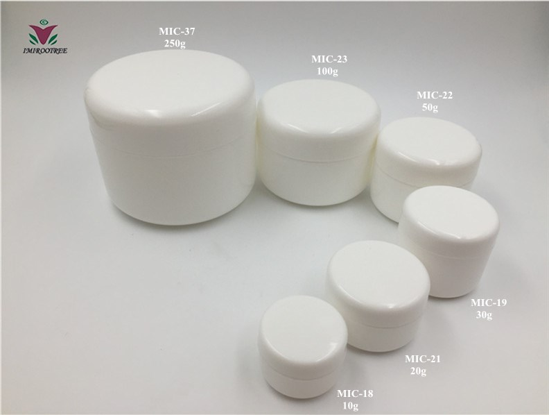 10g 20g 30g 50g 100g 250g  white empty cream container and Lotion Pots
