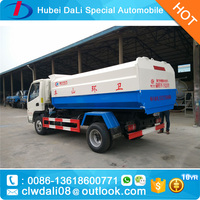 sealed small garbage truck 3 ton for sale