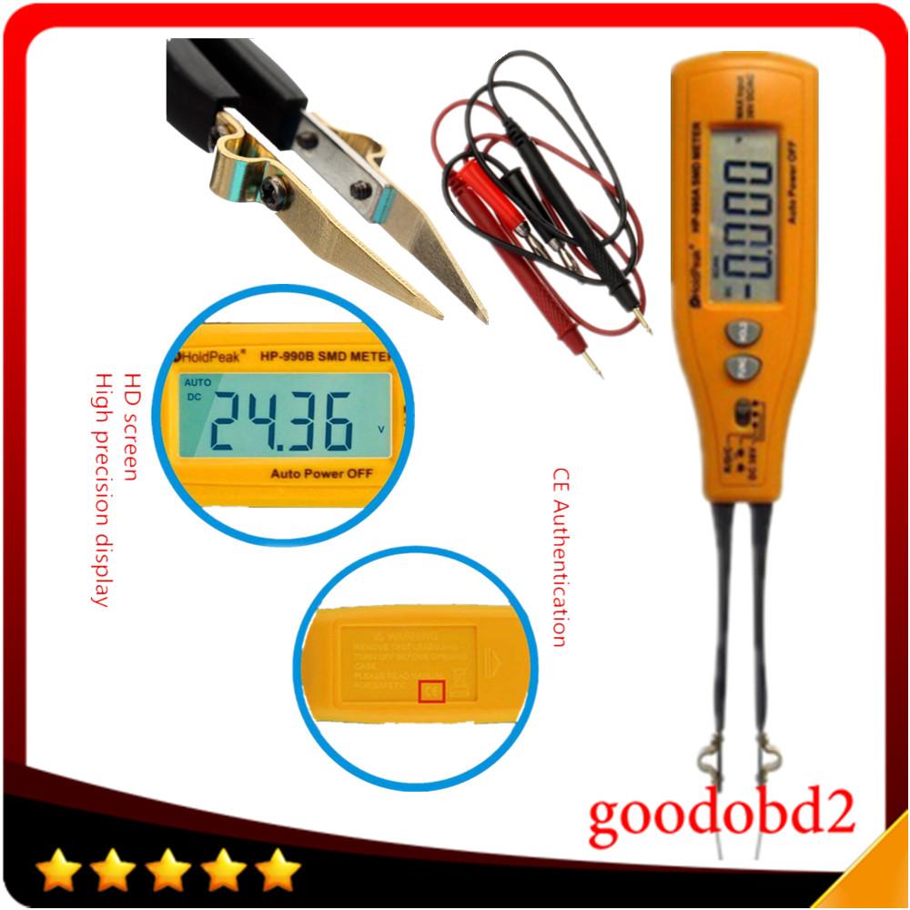 Holdpeak HP-990B авто диапазон SMD метр резистор-конденсатор диод / непрерывность / аккумулятор 4000 графы с относительными режим