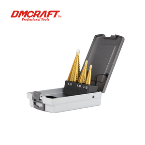 DAMING TOOLS 3pc Titanium Hss Step Drill Bit Set