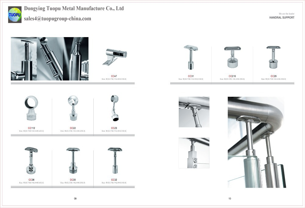China alibaba stainless steel outdoor metal handrail for