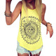 Hot Women Printed Blouse Sleeveless Vest Tee Shirt Blouse Casual Tank Tops