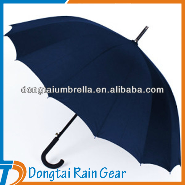 Automatic Open Blue Straight Umbrella For Rain/Sun