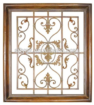 Modern Style Wrought Iron Window Grill Design