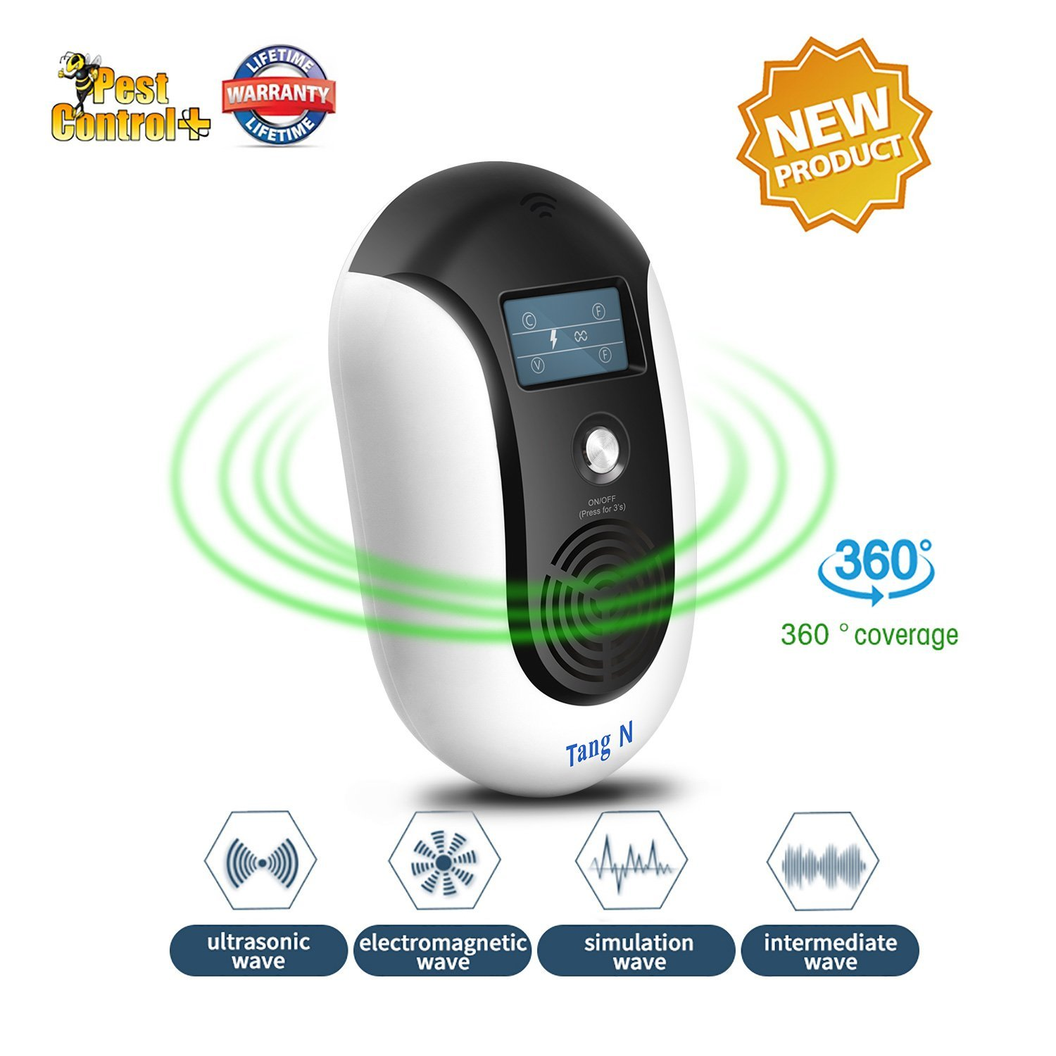 TangN Pest Repellent,Ultrasonic Pest Control Mouse Plug in,Indoor Outdoor Electronic Control Rodent,Mosquito,Insect,Roach,Spider,Ant,Rat And Flea,Safe Control NO Chemicals Ultrasonic Pest Repeller.