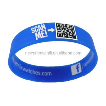 Wholesale imprint QR Code Silicone baller wristband - Alibaba.com