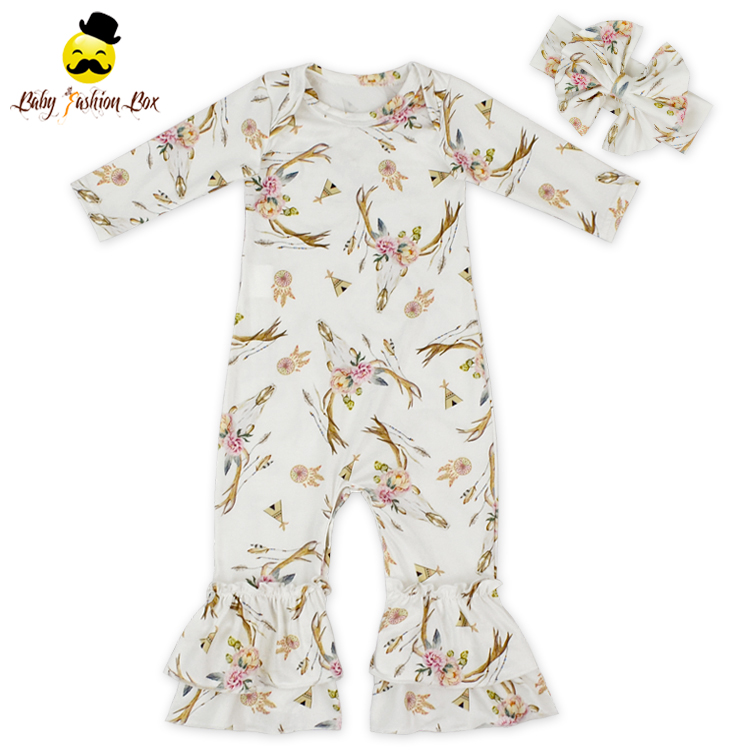Fashion Design Luxury Baby Clothes Printing Romper My First Christmas Bodysuit No Name Clothing Wholesale Baby Onesie