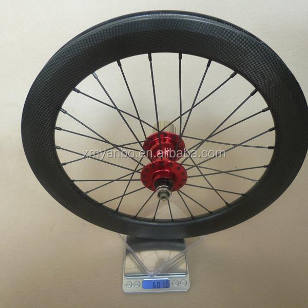 16inch 349 Carbon Wheels Clincher 16'349 Bmx Wheels Front:20h Rear ...