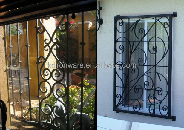 Popular Wrought Iron Decorative Window Grates