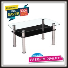 CTBY-CT1008 tempered glass living room coffee table occasional KD low price promotional product