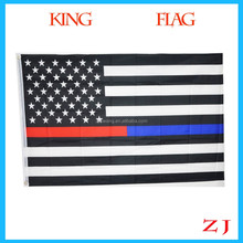 2018 Hot Sell 3 By 5 Foot Thin Blue Line & Red Line USA Flag, Blue And Red line American Flag With Brass Grom 3x5ft