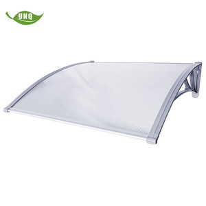 DIY door shelter, solid polycarbonate awning canopies