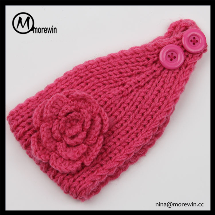 Morewin Brand Headwear Lovely Knitted Headband Custom Flower Headband