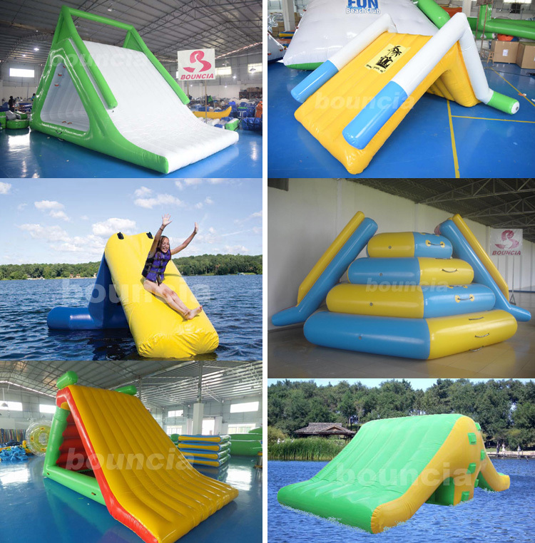 Inflatable Water Slide Dubai: Bouncia 2017 New Giant Inflatable Floating Water Slide For