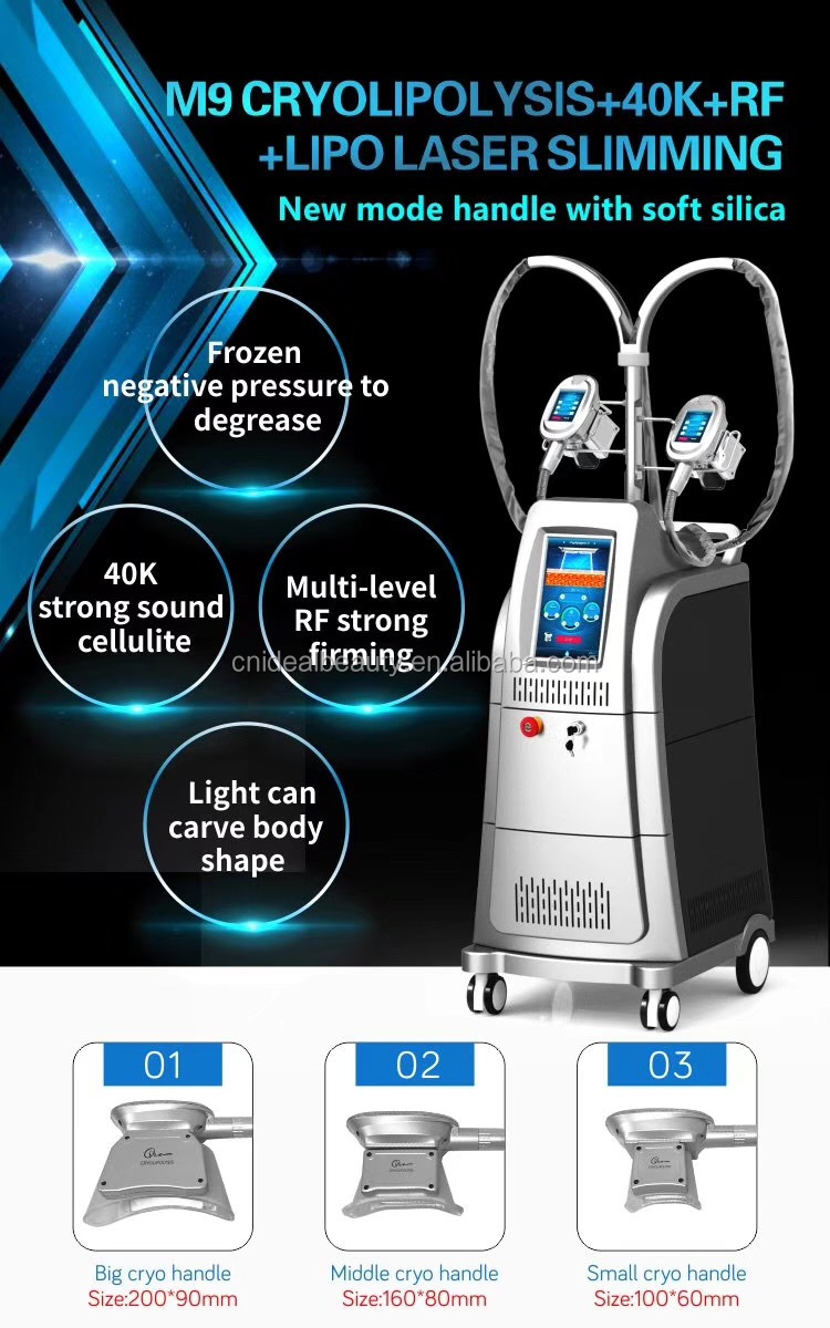 3 cryo handles cryolipolysis machine/cryolipolysis fat freezing/cryolipolysis (S039)
