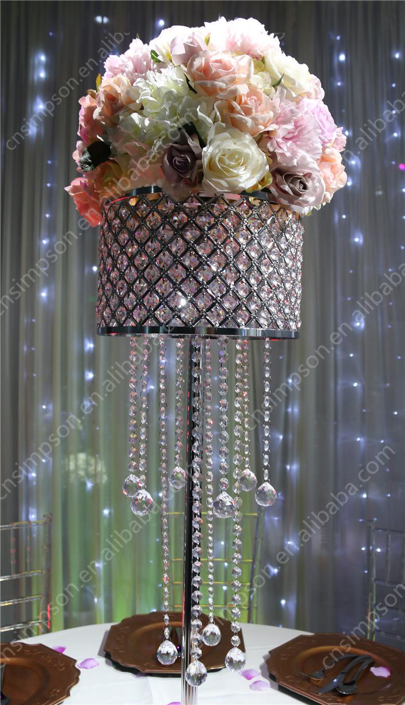 Dazzling crystal acrylic luxurious wedding chandelier table dazzling crystal acrylic luxurious wedding chandelier table centerpieces decoration arubaitofo Image collections