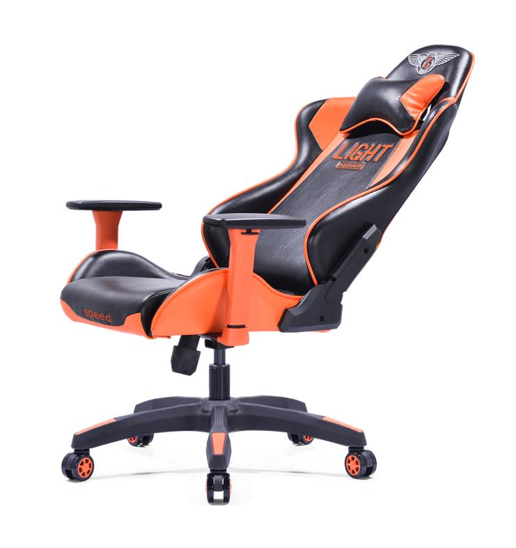 HK electronic classical gaming PU leather cafe use cheap gaming chairs