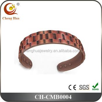 Fashion Mens Bio Magnetic Copper Bracelet