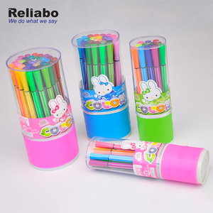 Reliabo Promotional Art Drawing Stationery Custom Multi Colour 24 Pcs Water Color Pen For Kids