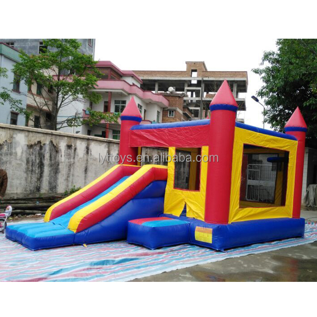 0.55mm pvc commercial inflatable bounce house jumping castle with slide