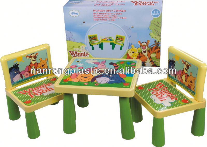 2013 New style wholesale high quality plastic kid table and chair blow mold chair