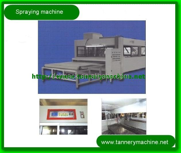 tannery leather spray chrome plating machine