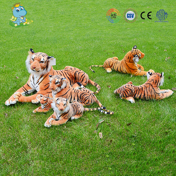 Plush sitting animal forest tiger soft stuffed reallike toy