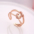 Latest fashion heart shaped beautiful gold plated rings jewelry designs for women