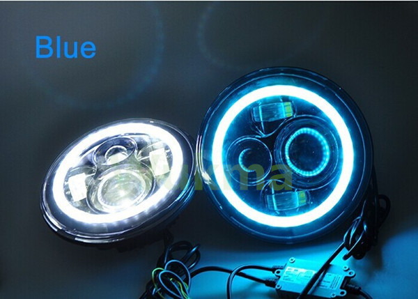 """7"""" Round Full Led Color Halo Projector Headlights,Green / Red ..."""