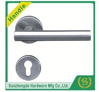 SZD STH-109 Dual Chrome Two-Tone Finish Lever On Rose Designer Door Handle Pack Latch/Hinges