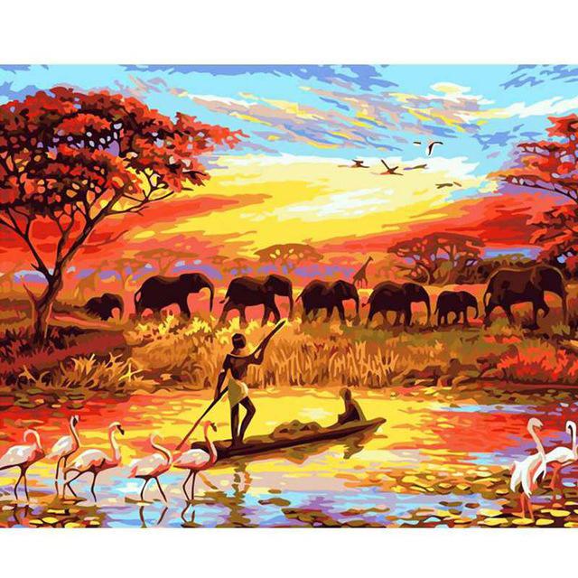 Venta Al Por Mayor Cuadros Africanos Para Pintar Compre Online Los
