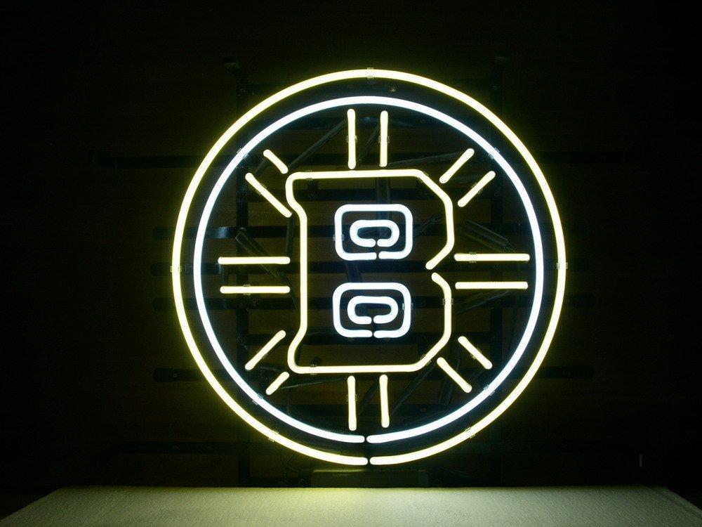 "Desung New 24""x24"" Sports Team BB Neon Sign Man Cave Signs Sports Bar Pub Beer Neon Lights Lamp Glass Neon Light CX54"