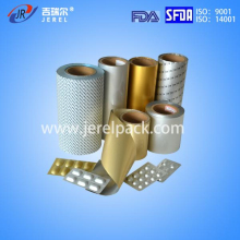 three layer alu alu cold forming laminated blister foil