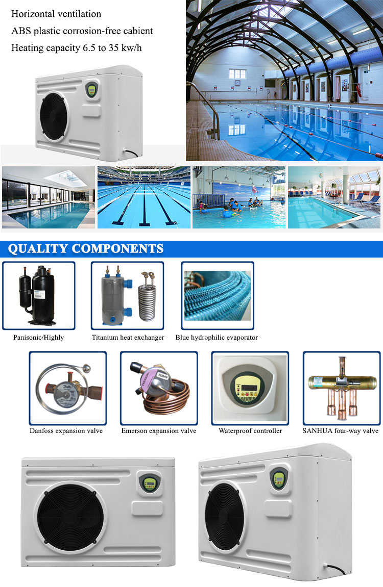 15kw/h swimming pool jacuzzi air source heat pump