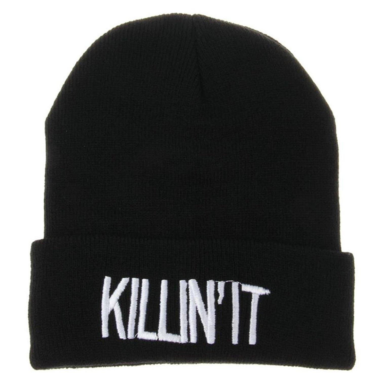 DDLBiz Unisex Knit Hat Warm Winter Cap Hip-hop Beanie Letters Hats