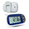 Large screen muti functional pedometer with watch clock step distance calories counter for walking