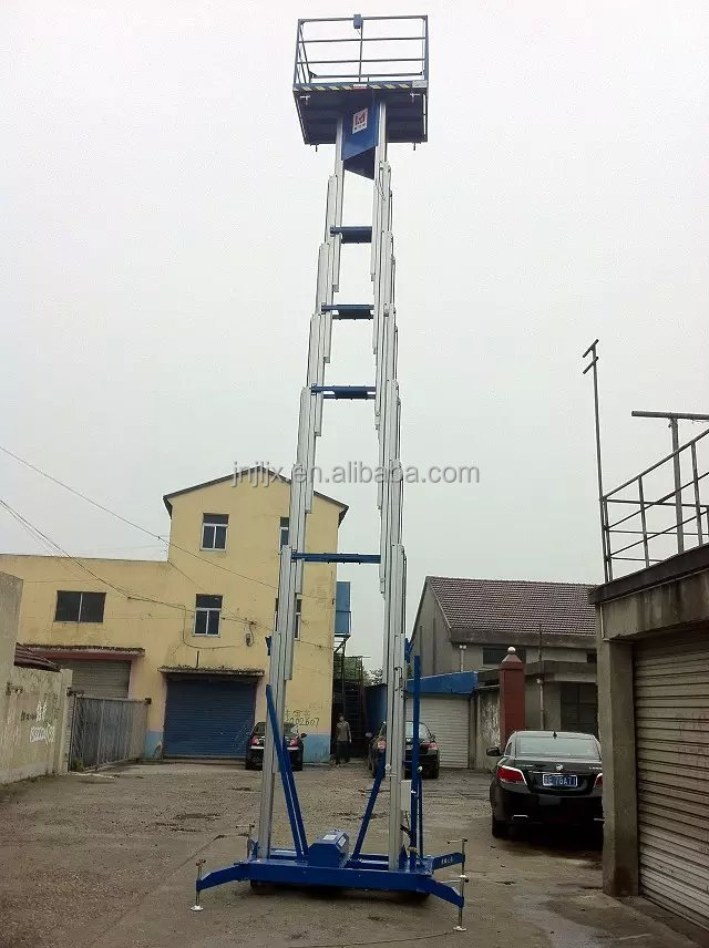 double the mast aluminum alloy lift/Aerial vertical work platform