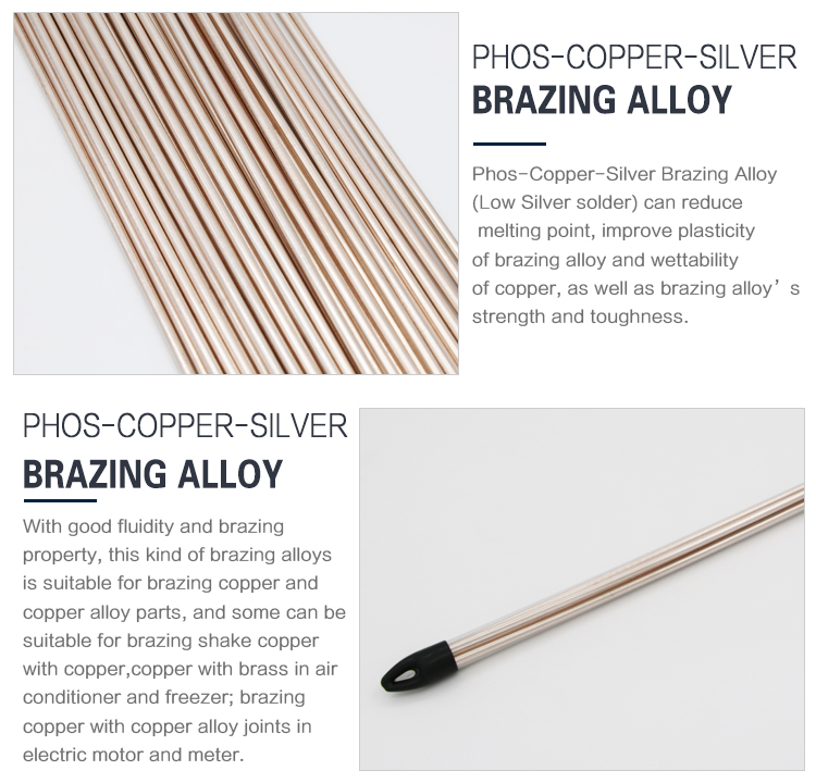 Professional  phos copper silver brazing rod silver welding rods