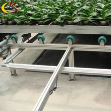 Hydroponic growing greenhouse rolling bench adjustable agriculture movable bench