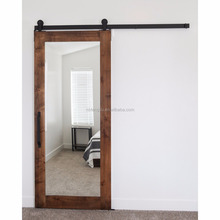 Mirrored barn door kerala door new design wooden door for bathroom and hotel