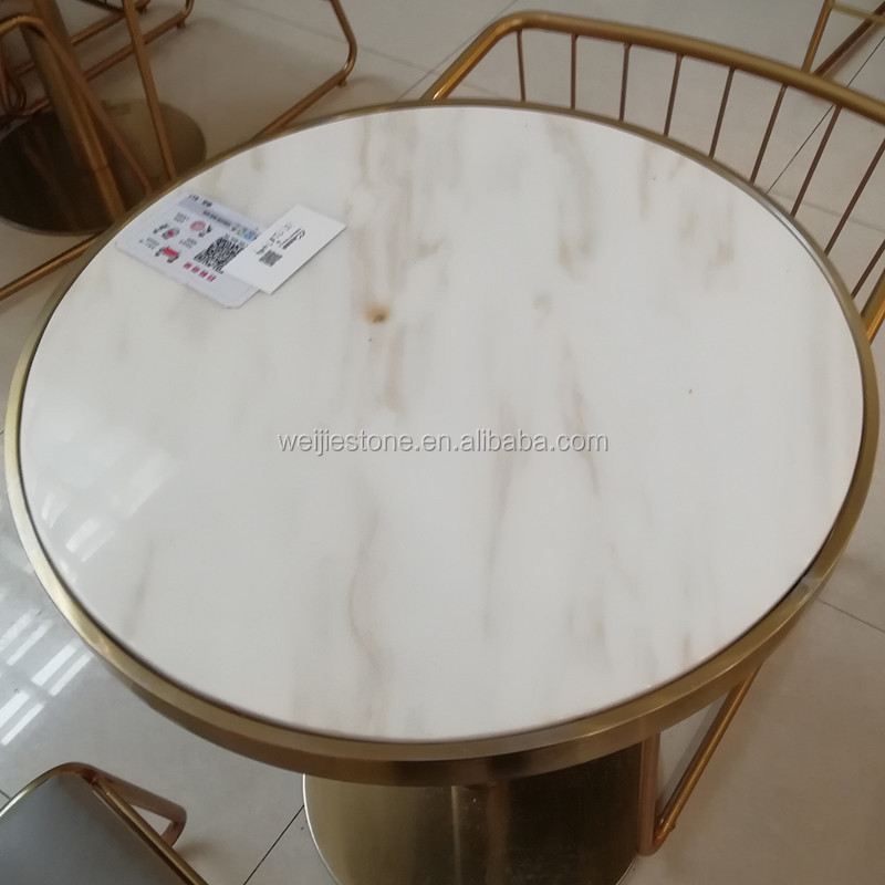 Square Marble Top Metal Frame Side