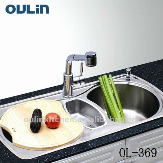 Beautiful Oulin Stainless Steel Sink Kitchen Insert (ol 369)   Buy Stainless Steel  Sink,Kitchen Insert,Kitchen Sinks Stainless Steel Product On Alibaba.com