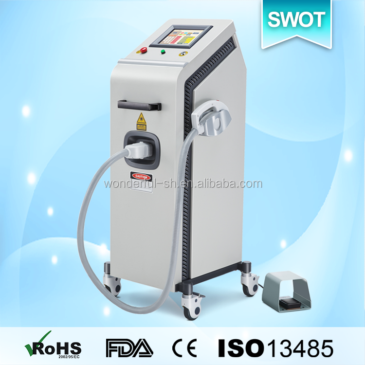 532nm nd yag laser hair and tattoo removal machine