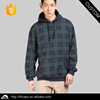 Plaid Fur Inside Kangaroo Pocket Custom Logo Hoodie