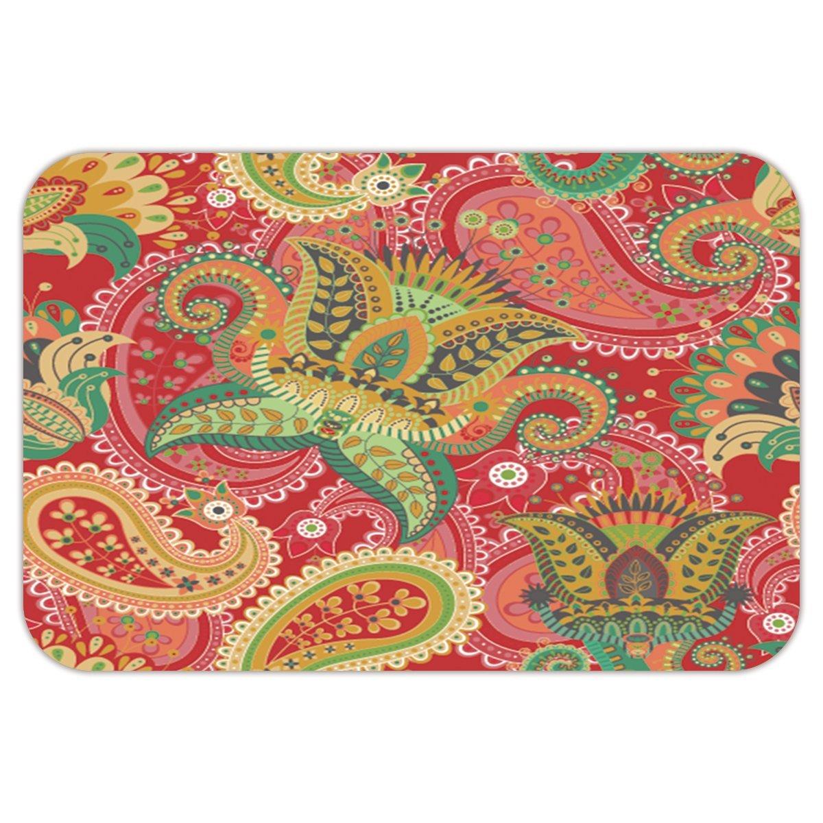 SCOCICI Brand Custom Coral Fleece/Coral Velvet & Non-slip Rubber Backing Indoor / Outdoor / Bathroom/Kitchen/Workstations Doormat Mat Rug,Stylish,Decorative,Unique,Cool,Fun,Funky