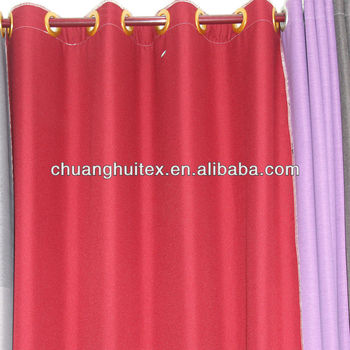 100 Polyester Blackout Imitation Linen Kitchen Curtains