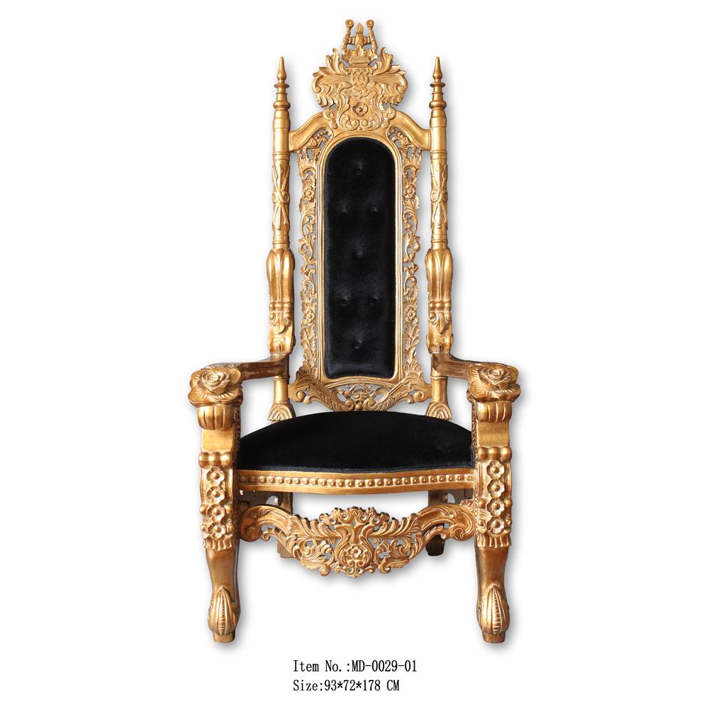 Oro antiguo rey silla trono en la venta caliente for Sillas para jugar a la play